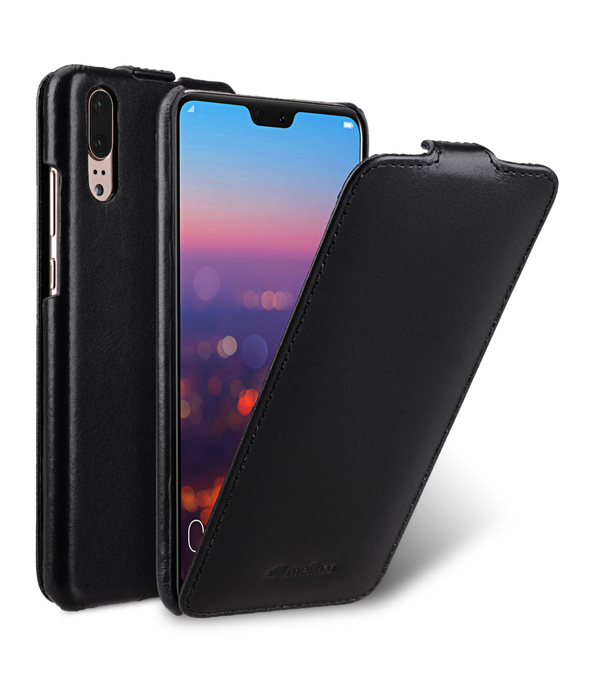 Melkco Jacka Series Premium Leather Jacka Type Case for Huawei P20 - ( Black )