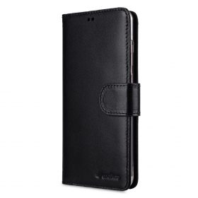 Melkco Wallet Book Series Premium Leather Wallet Book Clear Type Stand Case for Huawei P20 – ( Black )