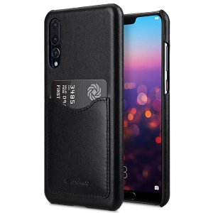 Melkco Premium Leather Card Slot Cover Case for Huawei P20 Pro - (Black)Ver.2
