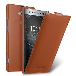 Melkco Premium Leather Case for Sony Xperia XA2 Ultra - Jacka Type (Brown CH)