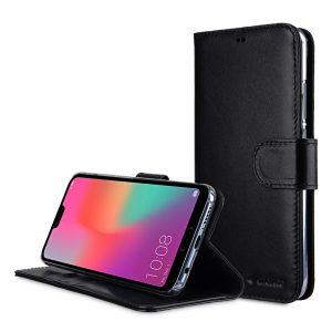 Melkco Premium Leather Case for Huawei Honor 10 - Wallet Book Clear Type Stand (Black)