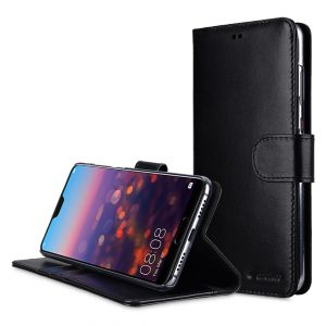 Melkco Premium Leather Case for Huawei P20 Pro - Wallet Book Clear Type Stand (Black)