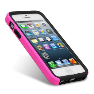 Melkco Double Layer Case for Apple iPhone 5 /5s/SE- Kubalt Type (Pink / Black)