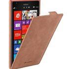 Melkco Premium Leather Case for Nokia Lumia 1520 – Jacka Type – (Classic Vintage Brown)