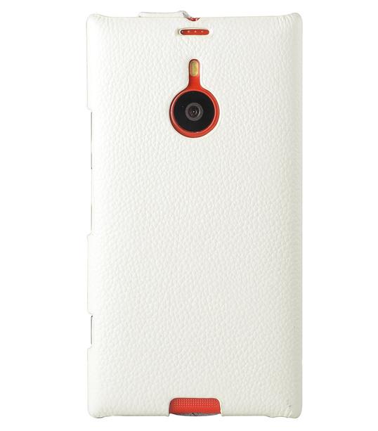 Melkco Premium Leather Case for Nokia Lumia 1520 / 1520.2 / Bandit / Beastie - Jacka Type (White LC)