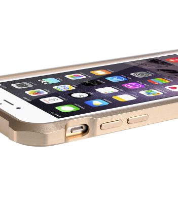 "Melkco Edge Back Bumper for Apple iPhone 6 (4.7"") - Metallic Gold"