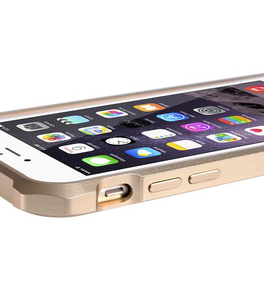 "Melkco Edge Back Bumper for Apple iPhone 6 (4.7"") - Metallic Gold"