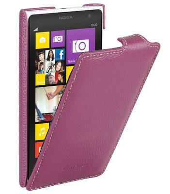 Melkco Premium Leather Case for Nokia Lumia 1020 - Jacka Type (Purple LC)
