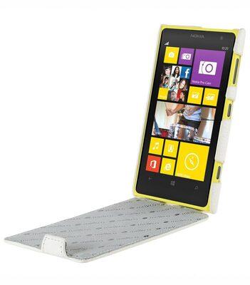 Melkco Premium Leather Case for Nokia Lumia 1020 - Jacka Type (White LC)