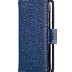 "Melkco Premium Leather Case for Apple iPhone 7 / 8 (4.7"") – Wallet Plus Book Type (Dark Blue LC)"