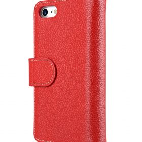 """Melkco Premium Leather Case for Apple iPhone 7 / 8 (4.7"""") – Wallet Plus Book Type (Red LC)"""