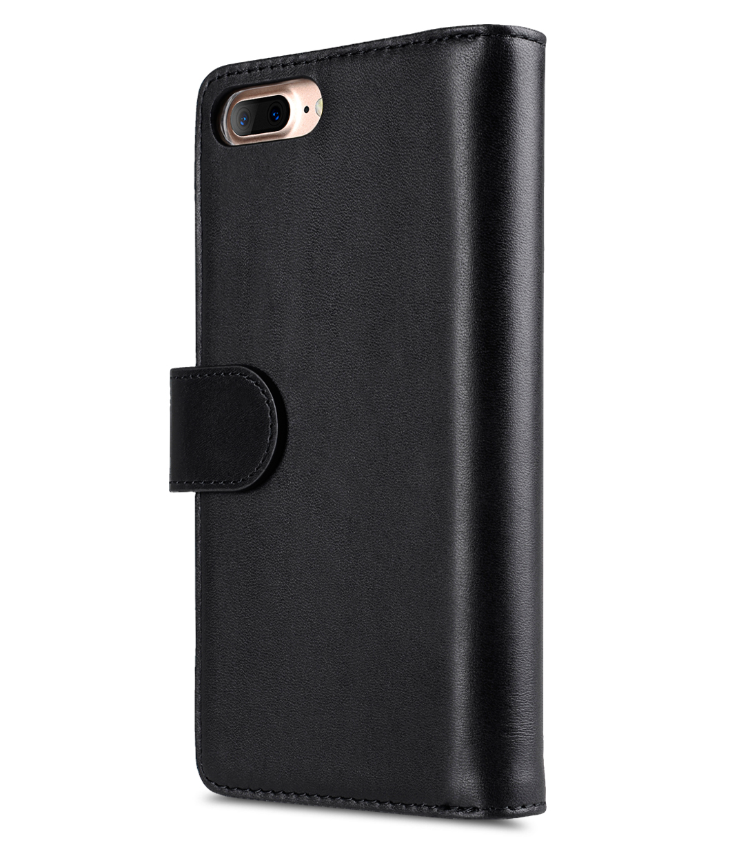 "Melkco Premium Leather Case for Apple iPhone 7 / 8 Plus(5.5"") - Wallet Plus Book Type (Black)"