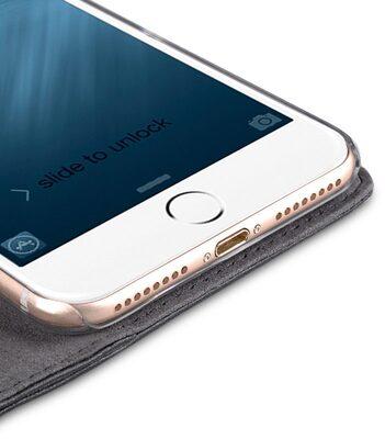 "Melkco Premium Leather Case for Apple iPhone 7 / 8 Plus(5.5"") - Wallet Plus Book Type (Black)"