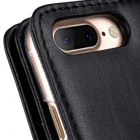 "Melkco Premium Leather Case for Apple iPhone 7 / 8 Plus(5.5"") – Wallet Plus Book Type (Black)"