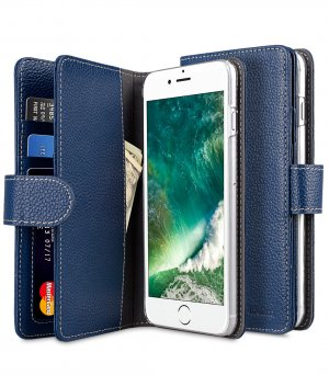 "Premium Leather Case for Apple iPhone 7 / 8 Plus(5.5"") - Wallet Plus Book Type"