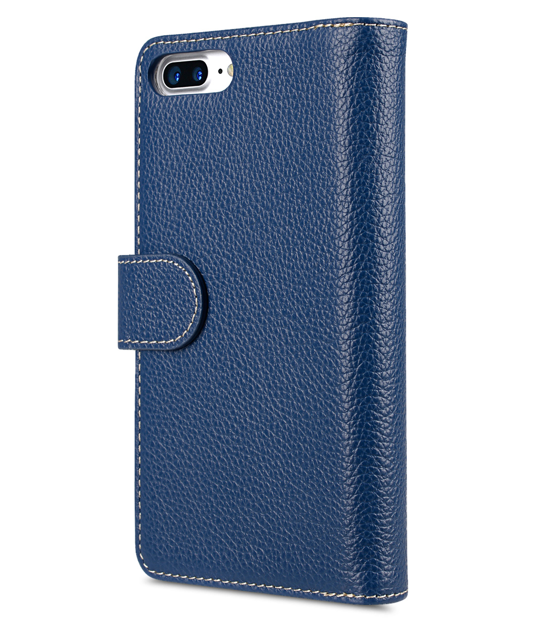 "Melkco Premium Leather Case for Apple iPhone 7 / 8 Plus(5.5"") - Wallet Plus Book Type (Dark Blue LC)"