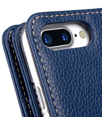 "Melkco Premium Leather Case for Apple iPhone 7 / 8 Plus(5.5"") - Wallet Plus Book Type (Dark Blue LC)"