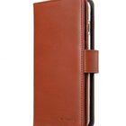"Melkco Premium Leather Case for Apple iPhone 7 / 8 Plus(5.5"") – Wallet Plus Book Type (Orange Brown)"