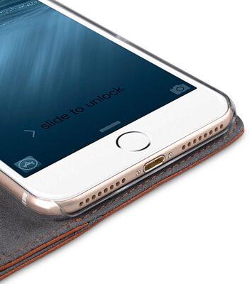 "Melkco Premium Leather Case for Apple iPhone 7 / 8 Plus(5.5"") - Wallet Plus Book Type (Orange Brown)"