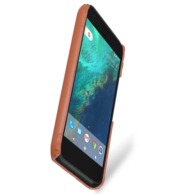 Melkco Premium Leather Snap Cover for Google Pixel XL (Brown)