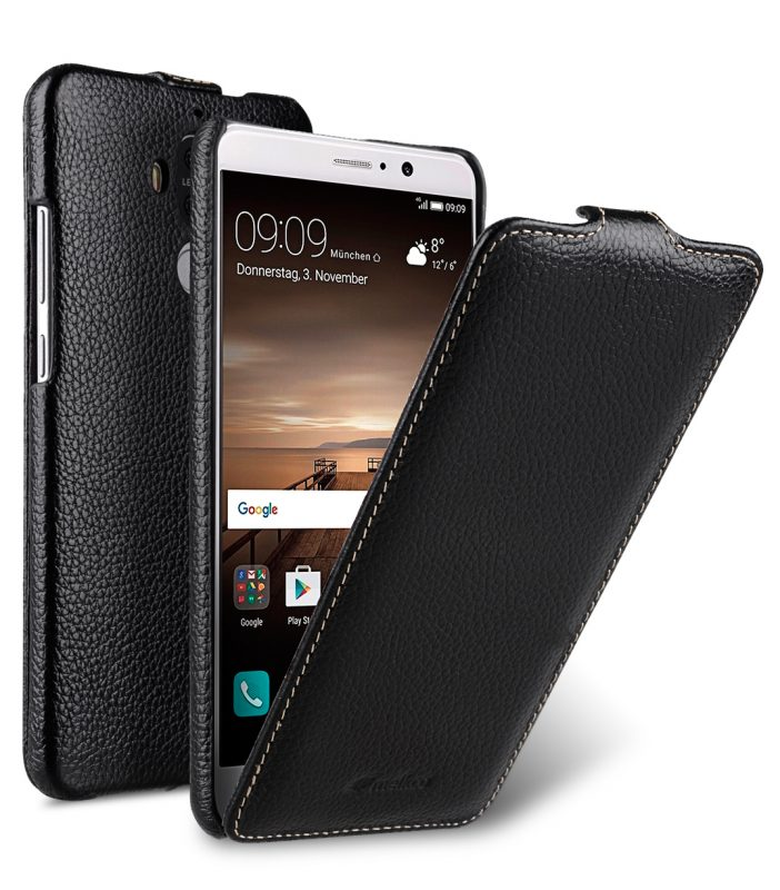 Melkco Jacka Series Lai Chee Pattern Premium Leather Jacka Type Case for Huawei Mate 9 - ( Black LC )