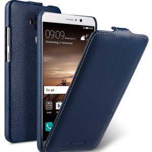 Melkco Jacka Series Lai Chee Pattern Premium Leather Jacka Type Case for Huawei Mate 9 - ( Dark Blue LC )