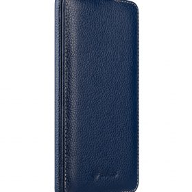 Melkco Jacka Series Lai Chee Pattern Premium Leather Jacka Type Case for Huawei Mate 9 – ( Dark Blue LC )