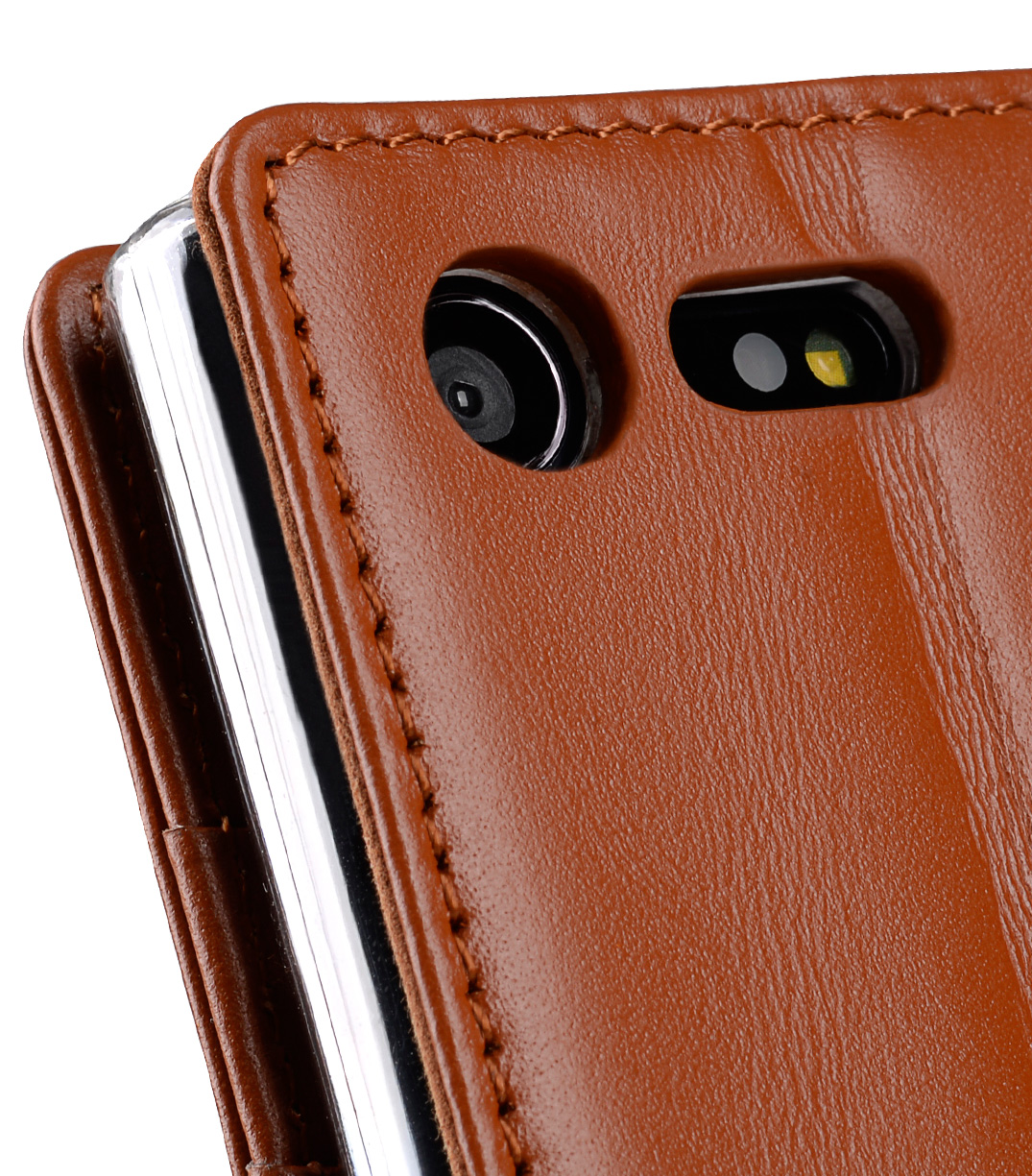 Melkco Premium Leather Case for Sony Xperia X Compact - Wallet Book Type with Stand Function (Brown)