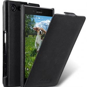Melkco Premium Leather Case for Sony Xperia X Compact - Jacka Type (Vintage Black)