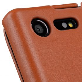 Melkco Premium Leather Case for Sony Xperia X Compact – Jacka Type (Brown)