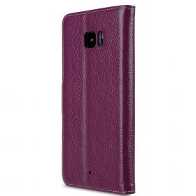Melkco Premium Leather Case for HTC U Ultra – Wallet Book Clear Type Stand ( Purple LC )