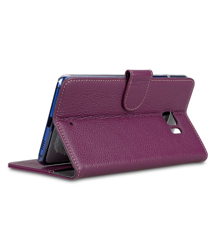 Melkco Premium Leather Case for HTC U Ultra - Wallet Book Clear Type Stand ( Purple LC )