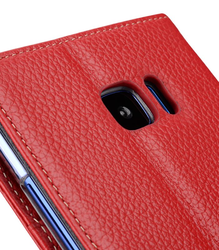 Melkco Premium Leather Case for HTC U Ultra - Wallet Book Clear Type Stand ( Red LC )