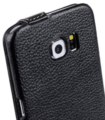 Melkco Premium Leather Cases for Samsung Galaxy S6 Edge - Jacka Type (Black LC)