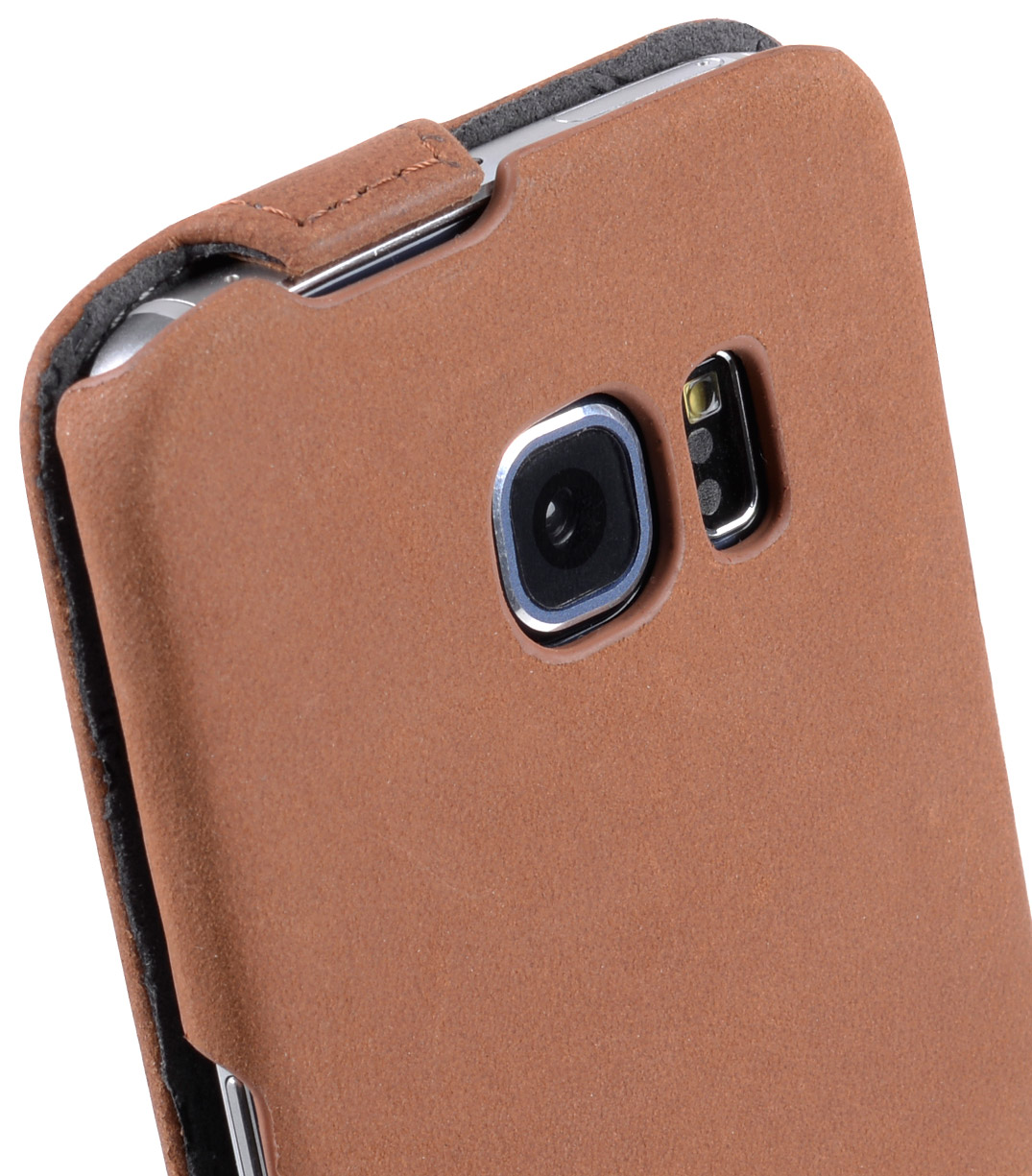 Melkco Premium Leather Cases for Samsung Galaxy S6 Edge - Jacka Type (Classic Vintage Brown)
