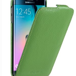 Melkco Premium Leather Cases for Samsung Galaxy S6 Edge - Jacka Type (Green LC)