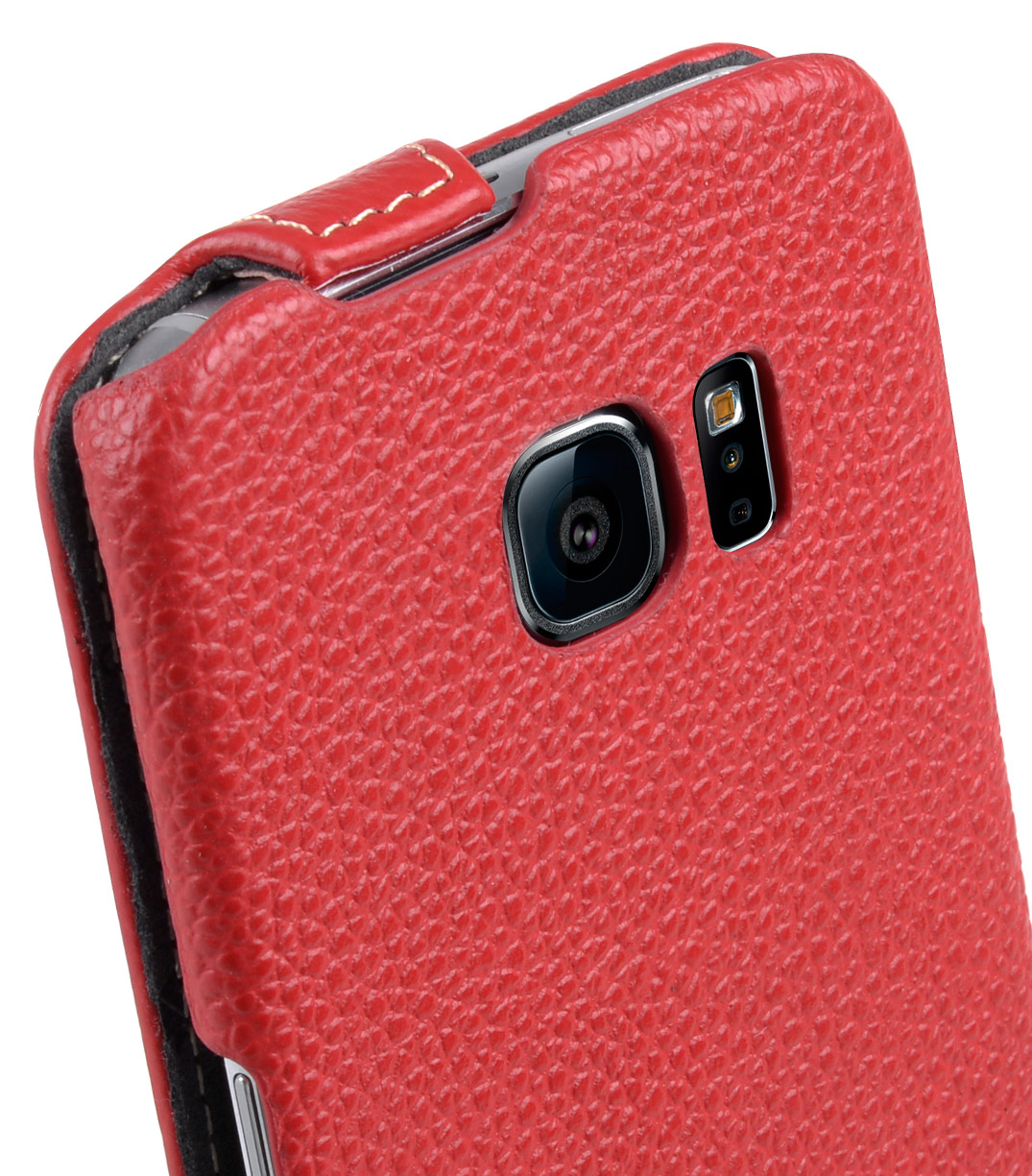 Melkco Premium Leather Cases for Samsung Galaxy S6 Edge - Jacka Type (Red LC)