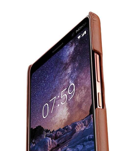release date: 4f33d d401d Premium Leather Card Slot Back Cover Case for Nokia 7 Plus