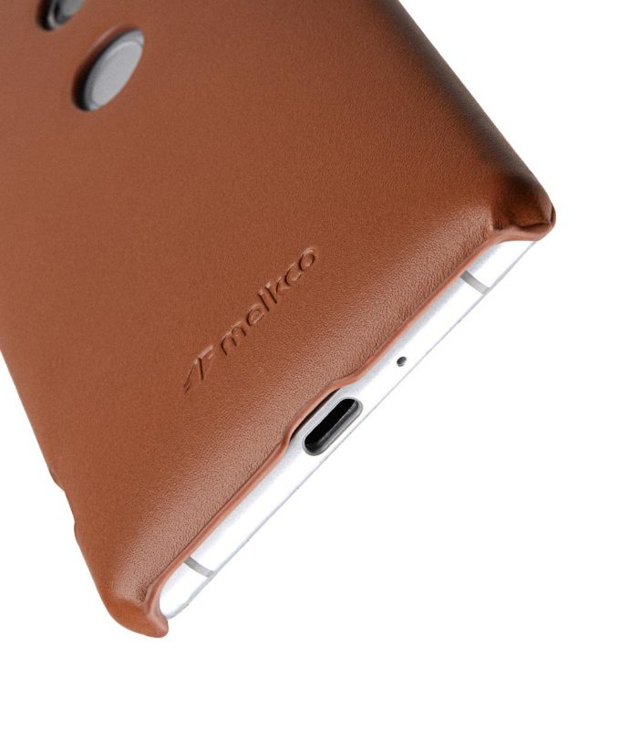 Melkco Premium Leather Snap Cover Case for Sony Xperia XZ2 - (Brown CH)