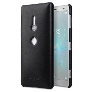 Melkco Premium Leather Snap Cover Case for Sony Xperia XZ2 - (Black)
