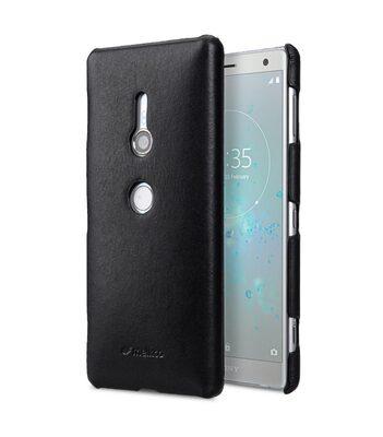 Melkco Premium Leather Snap Cover Case for Sony Xperia XZ2 - (Black)