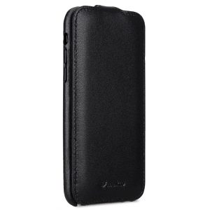 Melkco Elite Series Premium Leather Coaming Jacka Pocket Case for Apple iPhone X - (Black)