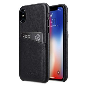 Melkco Elite Series Premium Leather Coaming Pocket Case for Apple iPhone X - (Black)
