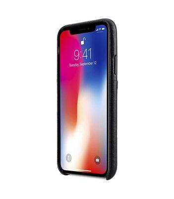 Melkco Elite Series Premium Leather Coaming Pocket Case for Apple iPhone X - (Black)