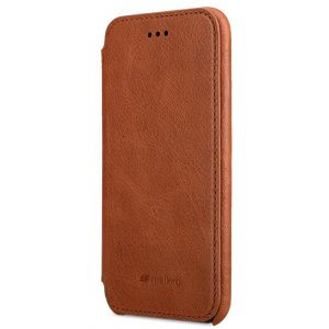 "Melkco Elite Series Waxfall Pattern Premium Leather Coaming Facecover Back Slot Case for Apple iPhone 7 / 8 (4.7"") - (Tan WF)"