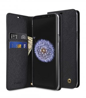 Fashion Cocktail Series Cross Pattern Premium Leather Slim Flip Type Case for Samsung Galaxy S9 Plus