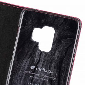 Melkco Fashion Cocktail Series Cross Pattern Premium Leather Slim Flip Type Case for Samsung Galaxy S9 – ( Peach CP )