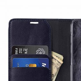 Melkco Fashion Cocktail Series Premium Leather Slim Flip Type Case for Samsung Galaxy S9 – (Navy)