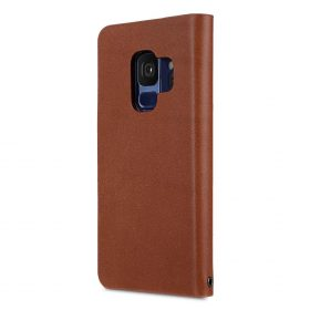 Melkco Fashion Cocktail Series Premium Leather Slim Flip Type Case for Samsung Galaxy S9 – ( Orange Brown )
