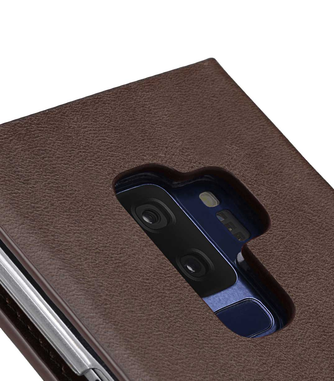 Melkco Fashion Cocktail Series Premium Leather Slim Flip Type Case for Samsung Galaxy S9 Plus - (Brown)